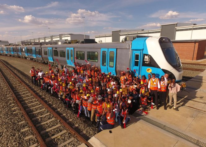 Rousing Send-off For Gibela's First South-African-Built Commuter Train