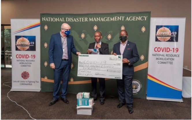 Eswatini Railways Donates Medical Equipment In Support Of The COVID-19 Initiative