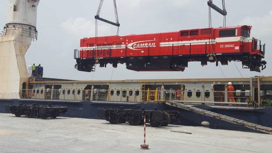 Camrail Receives Five New Locomotives