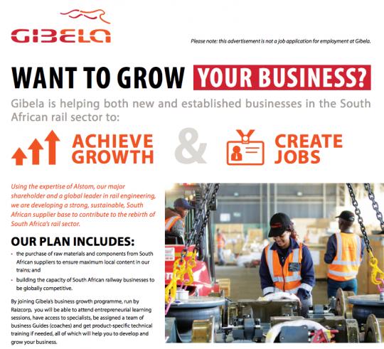 Gibela Launches Enterprise Development Programme