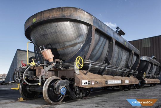 Lightweight Dumper Wagon System - Finalist For Swedish Steel Prize