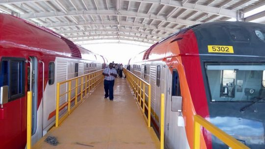 Static Tests Of The Passenger Locomotive Underway At Nairobi South