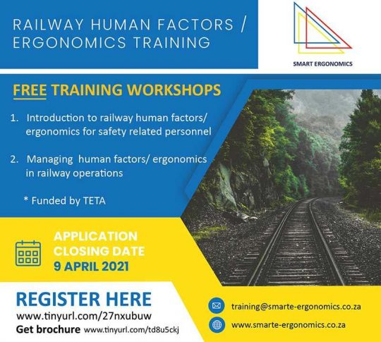 Smart Ergonomics To Train 300 Personnel In Railway Human Factors Ergonomics
