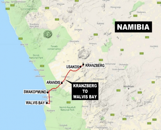 Update On The Upgrading Of The Railway Line Between Walvis Bay And Kranzberg