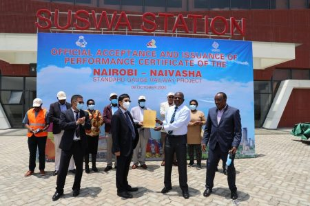 Kenya Railways Official Acceptance Of The Completed Works Phase 2A SGR Project