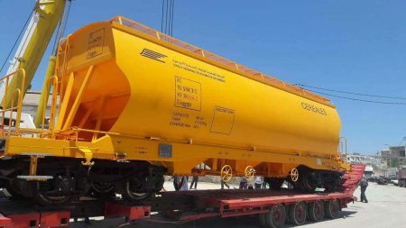 Tunisian National Railways Receives New Grain Wagons