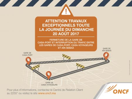 Closure At The Railway Carrefour Of Casablanca For General Works