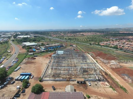 Construction Of Traxtion Sheltam's Rosslyn Rail Services Hub On Track