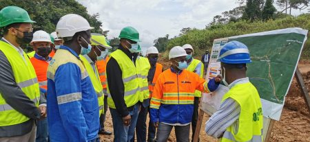 Visit By The Gabon Minister Of Transport To Setrag Site