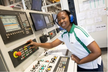 Lucchini South Africa's First Female Machine Operator Shows That It's Not Just A Man's World