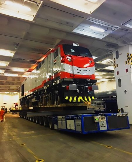 Compass Coordinates Move Of Locomotives For ENR