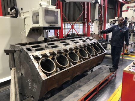 Remanufactured EMD 645, 12V Locomotive Crankcase For African Rail & Traction Services
