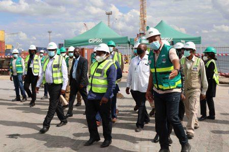 Botswana President Visits Nacala Port