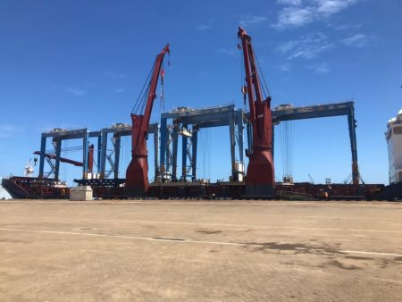 Five New Yard Gantries Reinforce Volume Growth At The Port Of Kribi