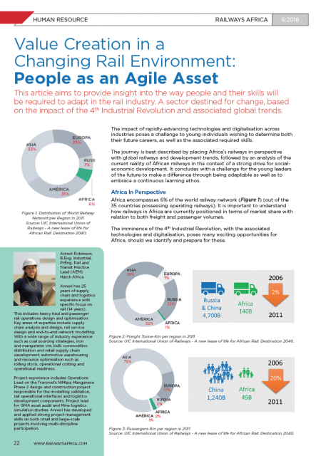 Value Creation in a  Changing Rail Environment: People as an Agile Asset