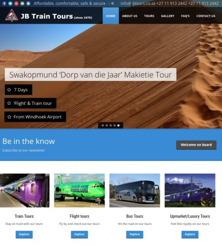 2020 A Big Year For JB Train Tours