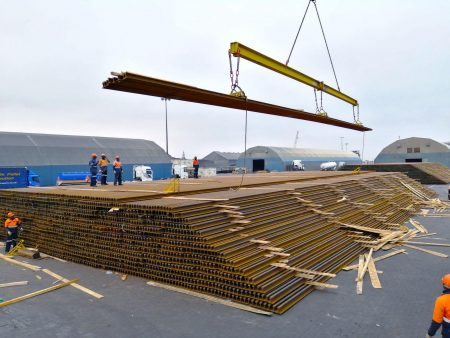 Delivery Of Steel Rails For Upgrading Work On Track