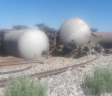 Train Derails Outside Otjiwarongo In Central North Namibia