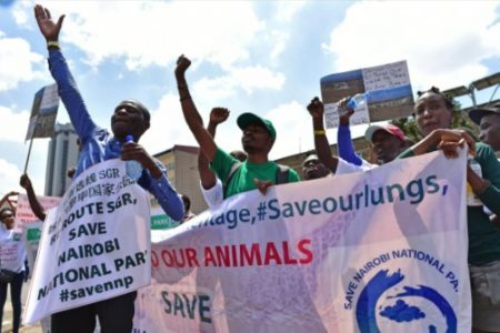 Protests as rail construction begins in Nairobi National Park