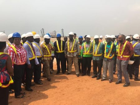 Minister For Railways Development Visits The Tema Port Expansion Project Site