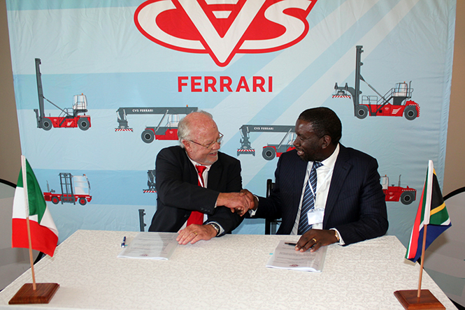 Kwane Capital And CVS Ferrari Sign Milestone Distribution And Localisation Of Port Handling Equipment
